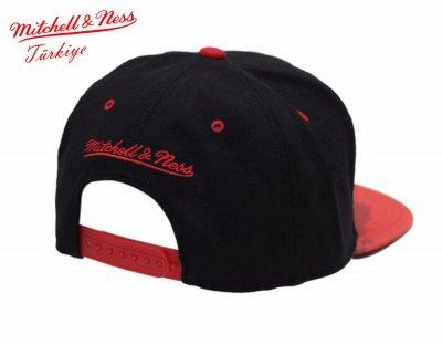Mitchell And Ness Chicago Bulls Kırmızı Kamuflaj Snapback Cap Şapka