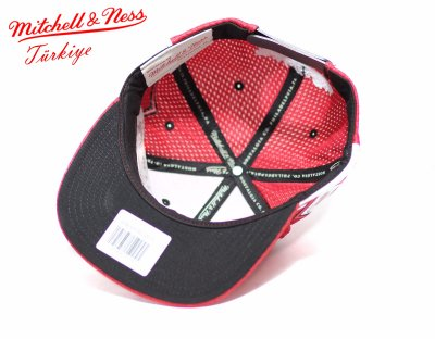 Mitchell And Ness Kırmızı 3 Bulls Snapback Cap Şapka