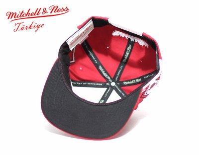 Mitchell And Ness Kırmızı Chicago 3 Bulls Snapback Cap Şapka