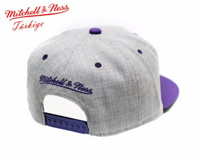 Mitchell And Ness Lakers Gri Mor Snapback Cap Şapka