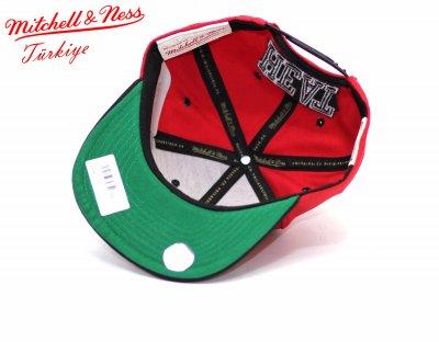 Mitchell And Ness Miamı Heat Siyah Kırmızı Snapback Cap Şapka