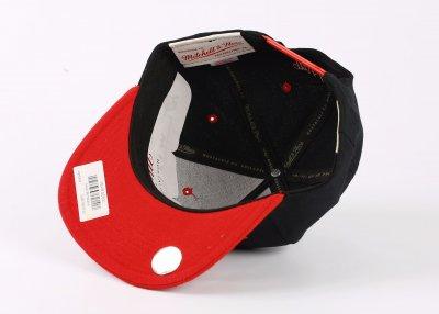 Mitchell And Ness Miamı Siyah Ve Kırmızı Snapback Cap Şapka