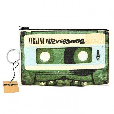 Nirvana Nevermind Kaset Bez Cüzdan Clutch El Çantası