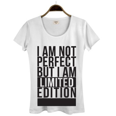 Not Perfect Beyaz Kadın T-Shirt