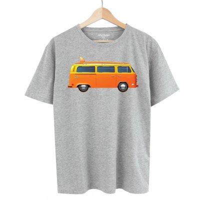 Orange Bus Gray