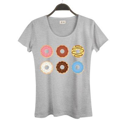 Set Pack Donuts Kadın T-Shirt