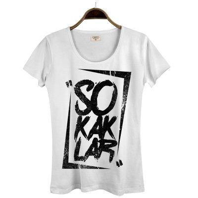 Sokaklar Beyaz Kadın T-Shirt