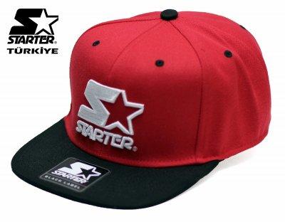 Starter Snapback Cap Şapka - Logo Red