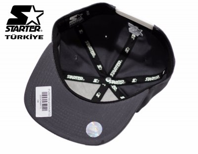Starter Snapback Cap Şapka - Siyah Logo
