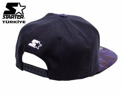 Starter Snapback Cap Şapka - Siyah Mor