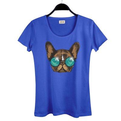 Sunglasses Dog Kadın T-Shirt