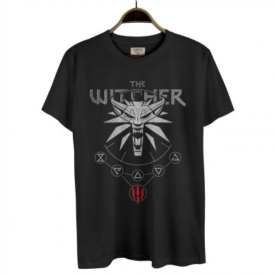 The Witcher Wild Hunt Siyah Erkek T-Shirt
