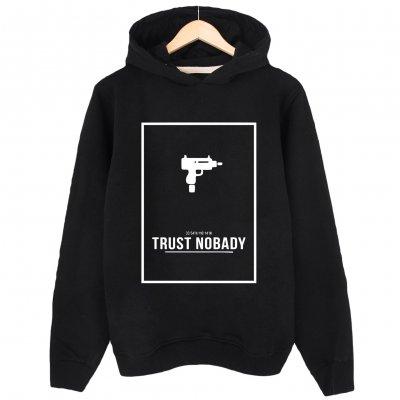 Trust Nobody Kapşonlu Sweatshirt Hoodie
