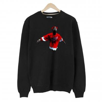 Tupac Red Style Basic Sweatshirt