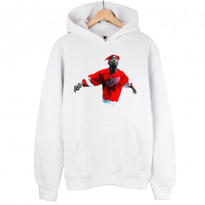 Tupac Red Style Sweatshirt Kapşonlu