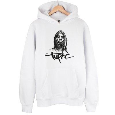 Tupac Kapşonlu Sweatshirt Hoodie - Yeni