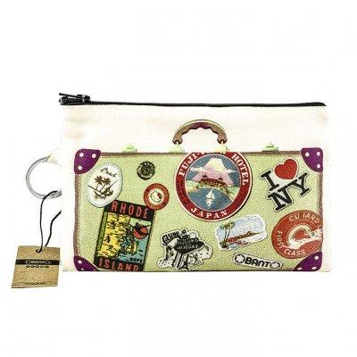 Vintage Bavul Bez Cüzdan Clutch El Çantası - B092-075b
