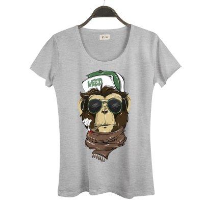 Weed Monkey Kadın T-Shirt